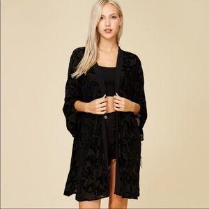 Sweaters - LAST 2! Black Velvet Kimono